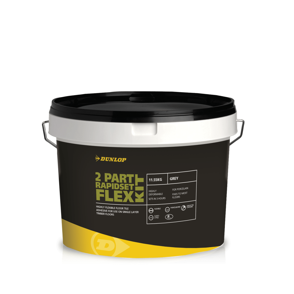 2 Part Rapidset Flex Tile Adhesives Dunlop Trade