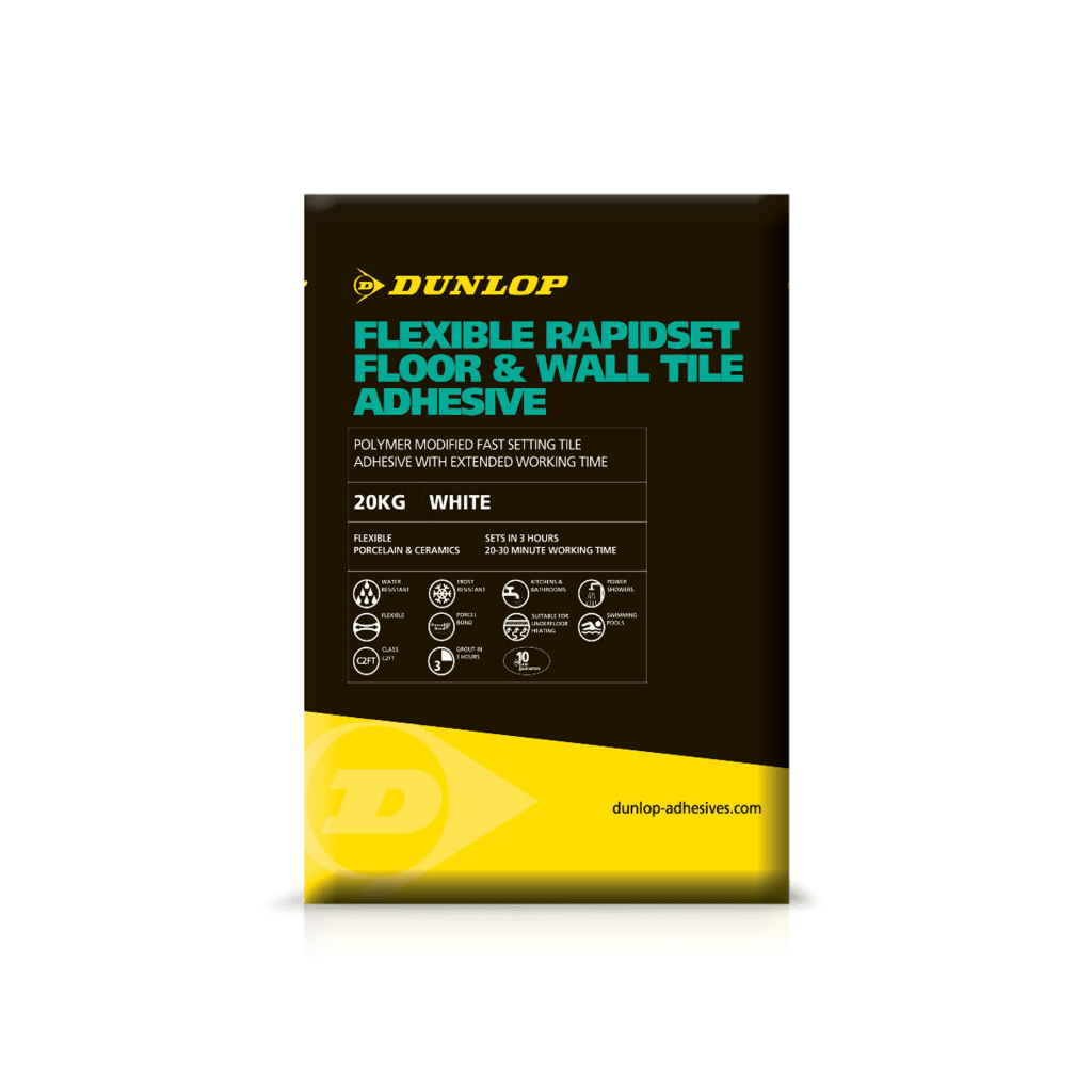 Rapidset adhesive flexible floor wall dunlop trade flexible rapidset floor wall tile adhesive dailygadgetfo Image collections