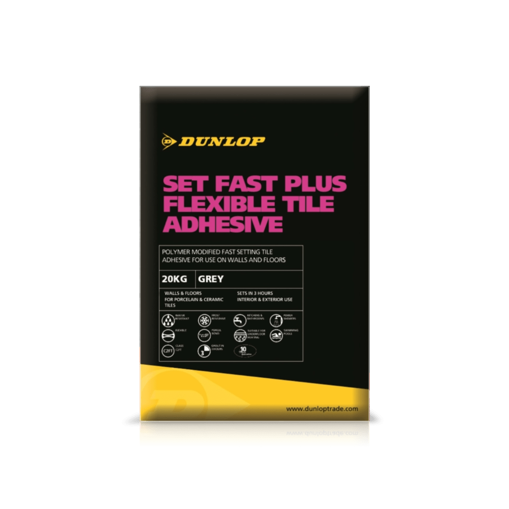 Set fast plus floor wall tile adhesives dunlop trade dailygadgetfo Image collections