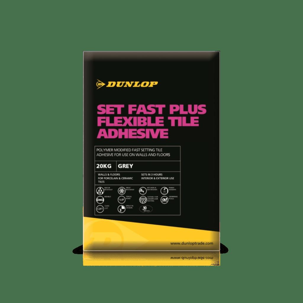 Set fast plus floor wall tile adhesives dunlop trade set fast plus flexible tile adhesive dailygadgetfo Gallery