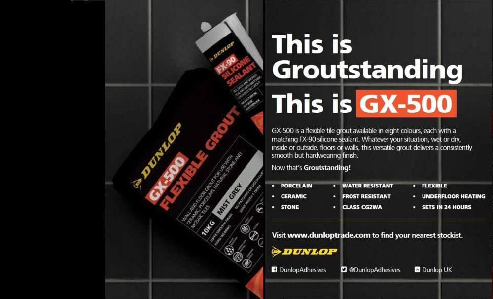 Flexible tile grout - GX-500