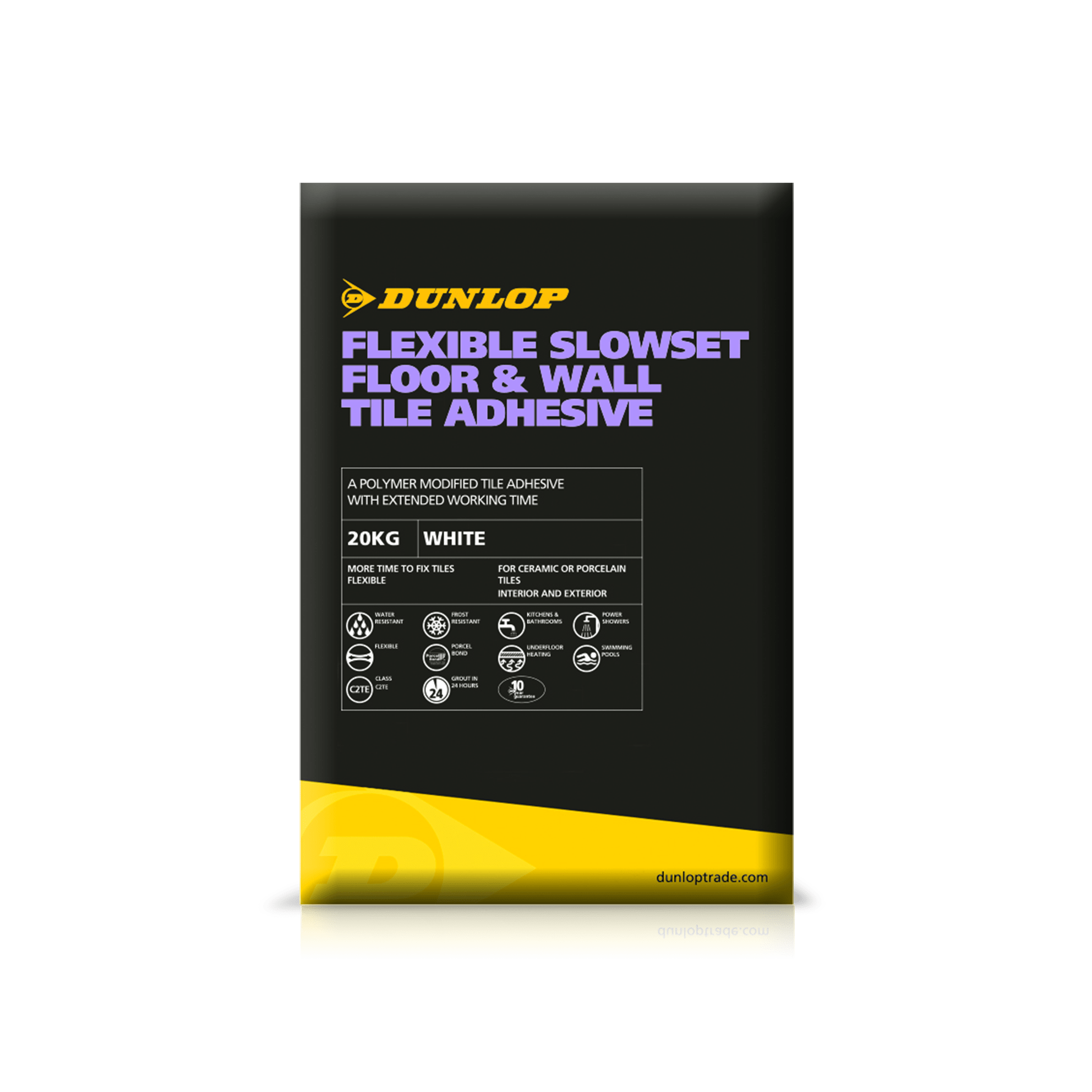 Tile adhesive tile sealant tile grout dunlop trade flexible slowset floor wall tile adhesive dailygadgetfo Choice Image