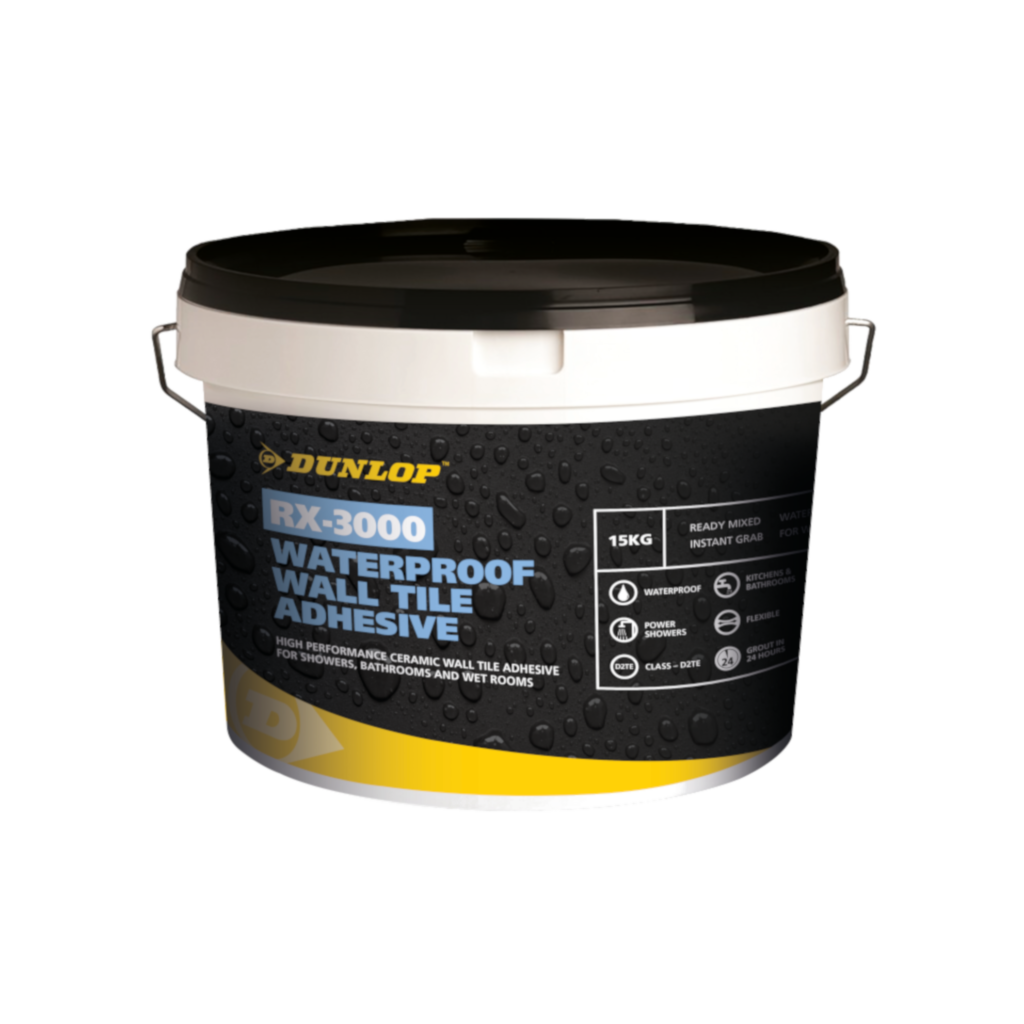 Rx 3000 Waterproof Wall Tile Adhesive Dunlop Trade